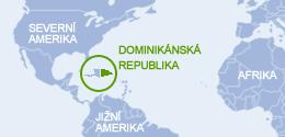 Kde leží Dominikánská republika