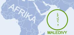 Kde leží Maledivy